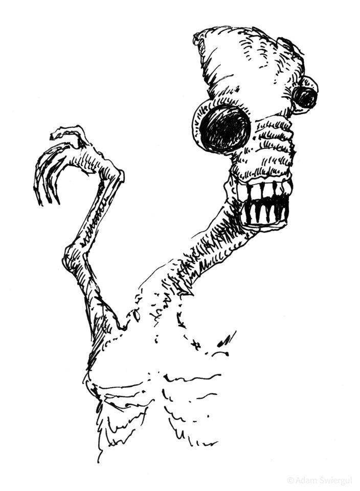 Alien głodny