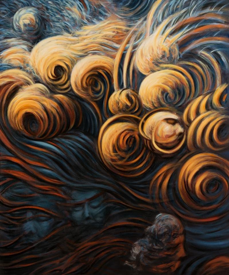 Baśń o losie - obraz olejny 100x120 cm