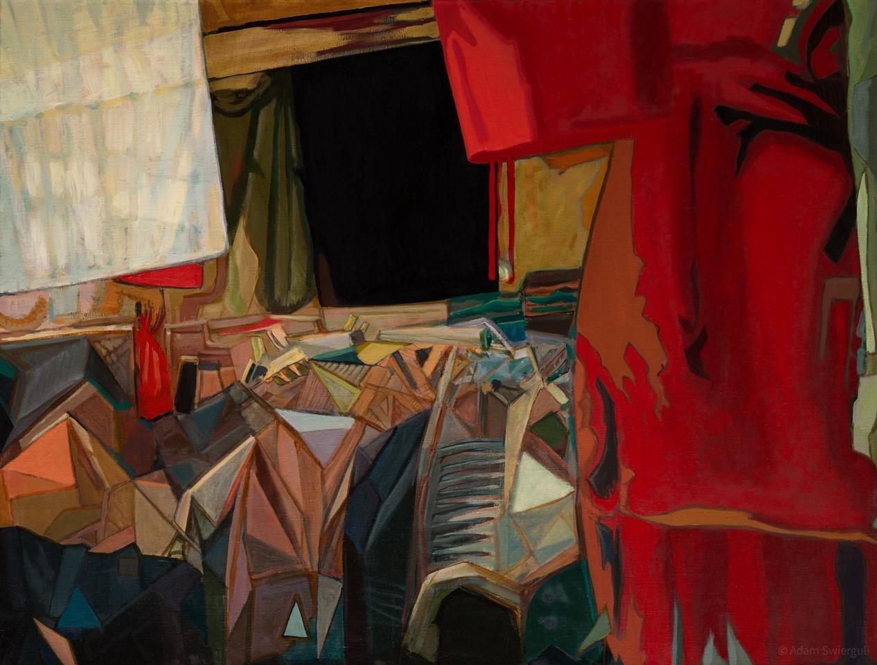 Bazar - obraz olejny 100x75 cm