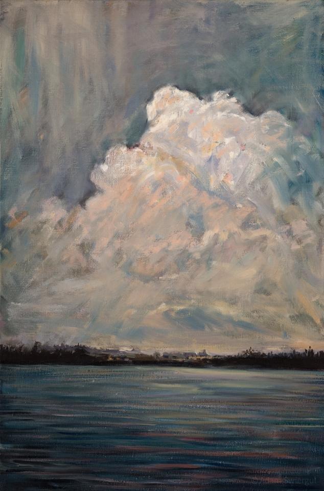 Chmury, szkic