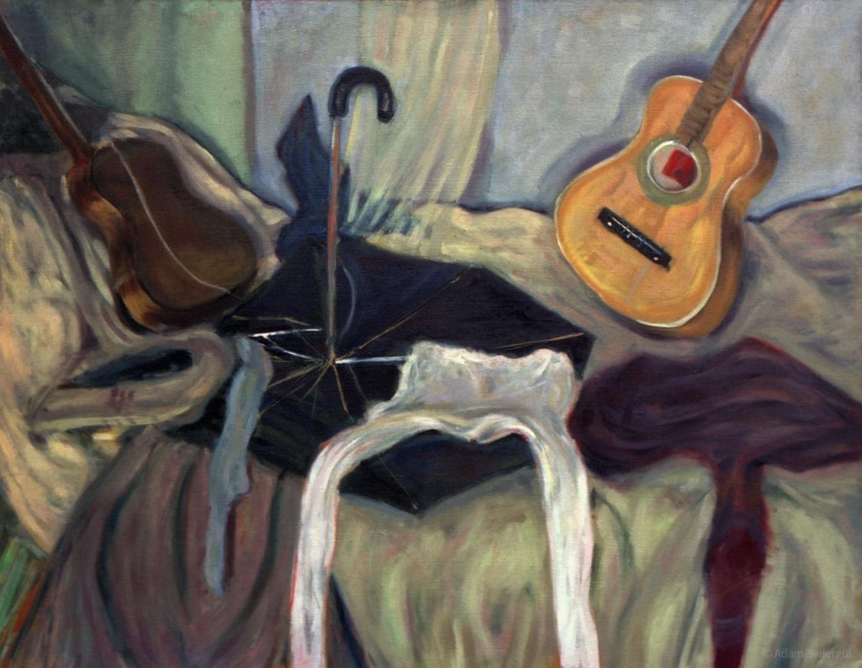 Gitary i parasol