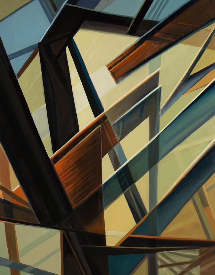 Maszyna do robienia sielanki - obraz olejny 80x100 cm