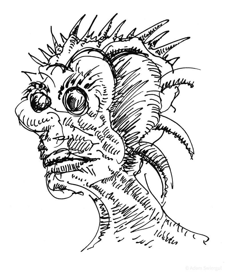 Silnam - rysunek, długopis