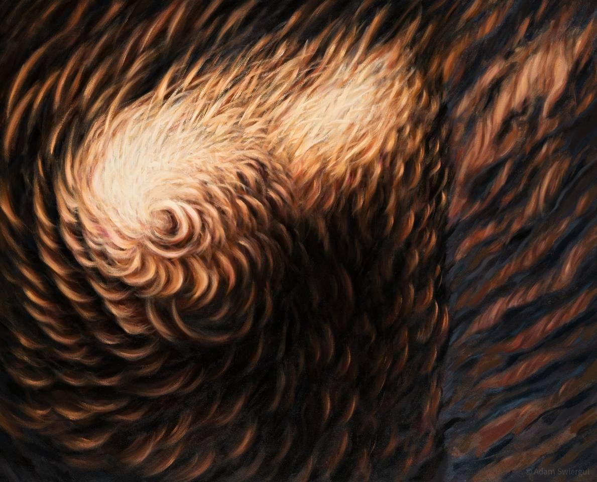 Splątanie - obraz olejny 100x81 cm