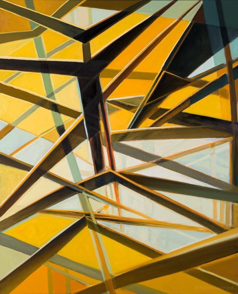 Taniec z drzazgami - obraz olejny 100x80 cm