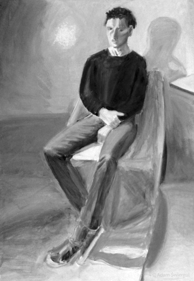 Chłopak siedzący