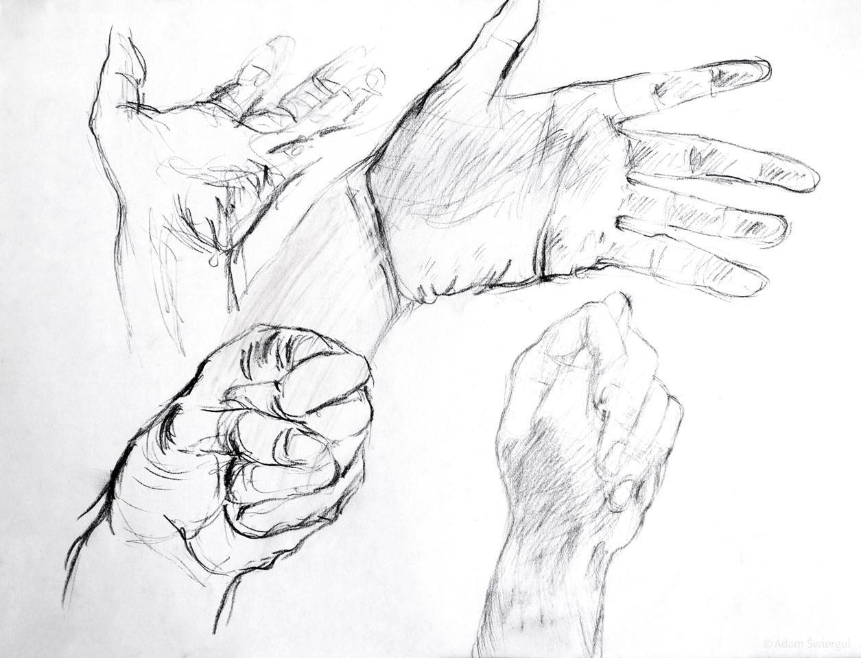 Szkice dłonie 4