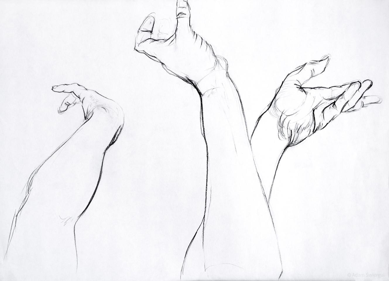 Szkice ręce 3
