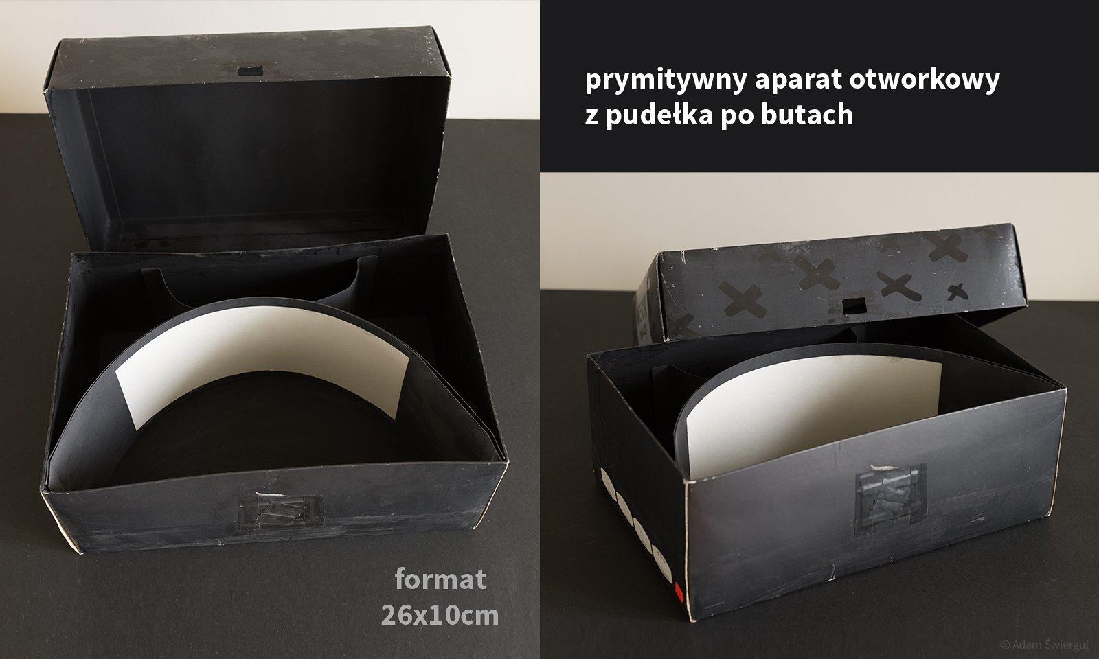 Aparat otworkowy z pudełka po butach