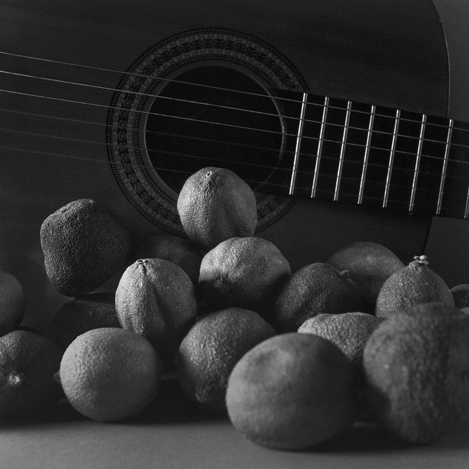 Gitara w cytrynach