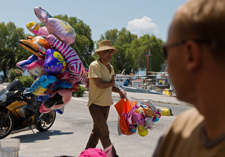 Sprzedawca balonów