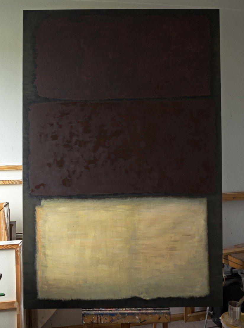 Rothko, Untitled 1960, kopia początek pracy