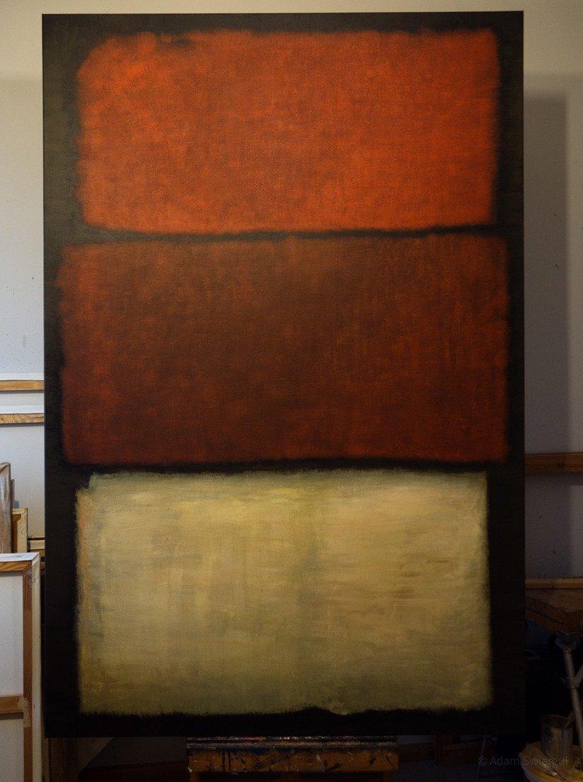 Rothko, Untitled 1960, kopia w trakcie pracy